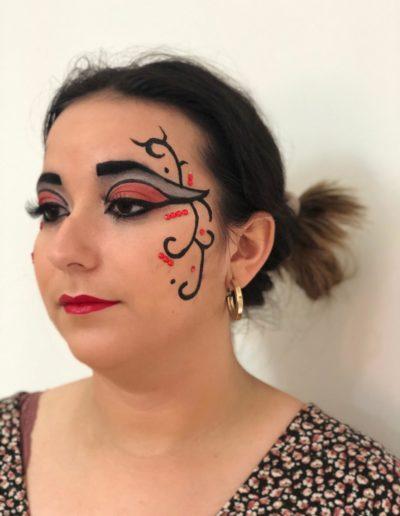 maquillaje carrozas denia